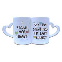 Valentine Couple Mug Heart Shape 010