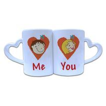 Valentine Couple Mug Heart Shape 011