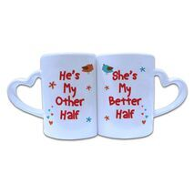 Valentine Couple Mug Heart Shape 012