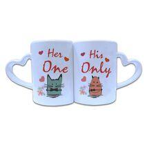Valentine Couple Mug Heart Shape 014