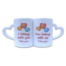 Valentine Couple Mug Heart Shape 015