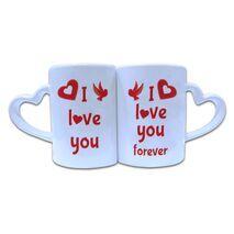 Valentine Couple Mug Heart Shape 016