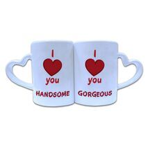 Valentine Couple Mug Heart Shape 018