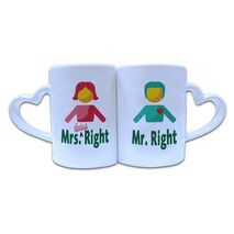 Valentine Couple Mug Heart Shape 020