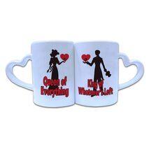 Valentine Couple Mug Heart Shape 021