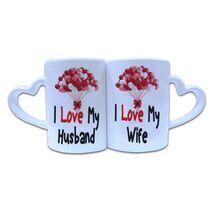 Valentine Couple Mug Heart Shape 023