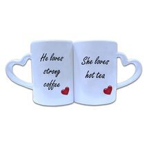 Valentine Couple Mug Heart Shape 003