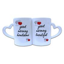 Valentine Couple Mug Heart Shape 004