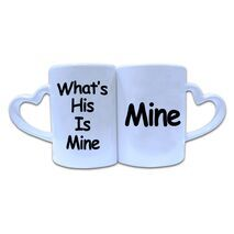 Valentine Couple Mug Heart Shape 005