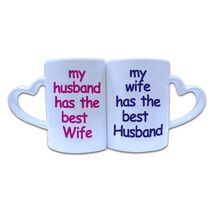 Valentine Couple Mug Heart Shape 006