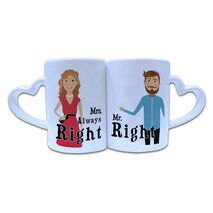 Valentine Couple Mug Heart Shape 007