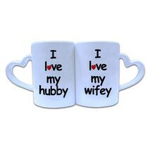Valentine Couple Mug Heart Shape 009