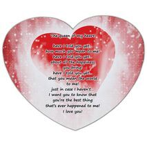 Valentine's Day Heart shape Mouse Pad HS MP 0004