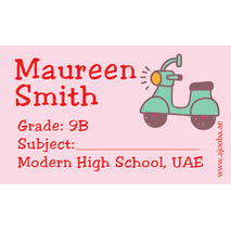 40 Personalised School Label 0313