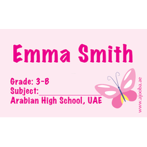 40 Personalised School Label 0321