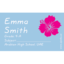 40 Personalised School Label 0322