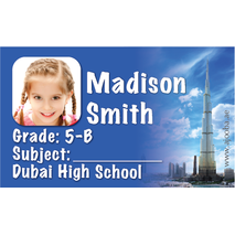 40 Personalised School Label 0330