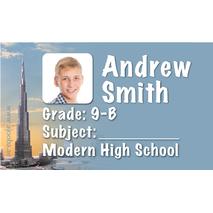 40 Personalised School Label 0338