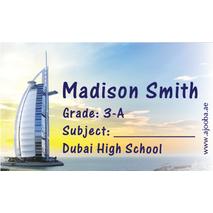 40 Personalised School Label 0340