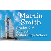 40 Personalised School Label 0341