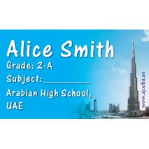 40 Personalised School Label 0344