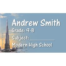 40 Personalised School Label 0345
