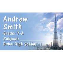 40 Personalised School Label 0347