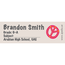 72 Personalised School Label 0117