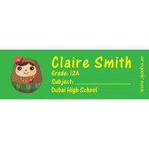72 Personalised School Label 0119