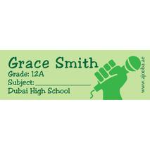 72 Personalised School Label 0120