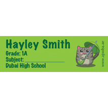 72 Personalised School Label 0121