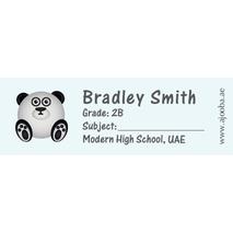 72 Personalised School Label 0123