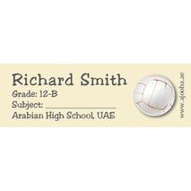 72 Personalised School Label 0124