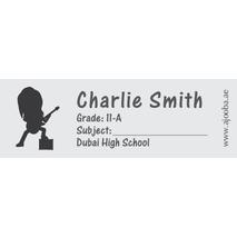 72 Personalised School Label 0127