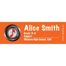 72 Personalised School Label 0129