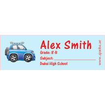 72 Personalised School Label 0131