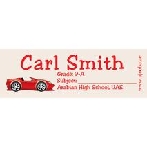 72 Personalised School Label 0132