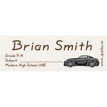 72 Personalised School Label 0133