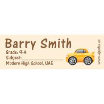 72 Personalised School Label 0134