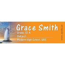 72 Personalised School Label 0135