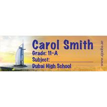72 Personalised School Label 0136