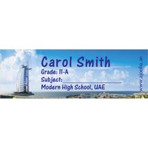 72 Personalised School Label 0137