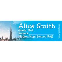 72 Personalised School Label 0138