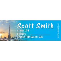 72 Personalised School Label 0139