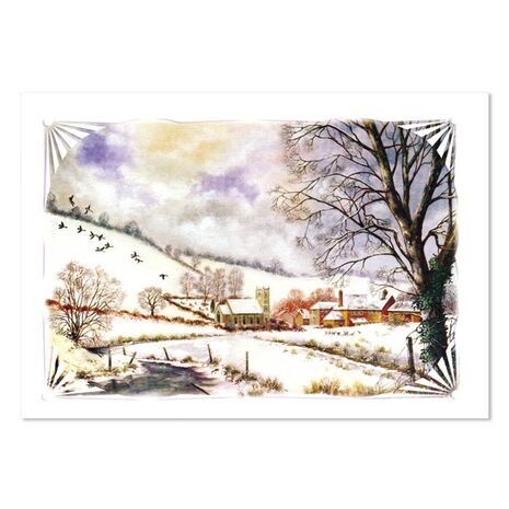 Christmas Card (Houses/Snow)