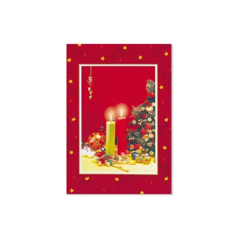 Christmas Card (Candles/Xmas Tree)