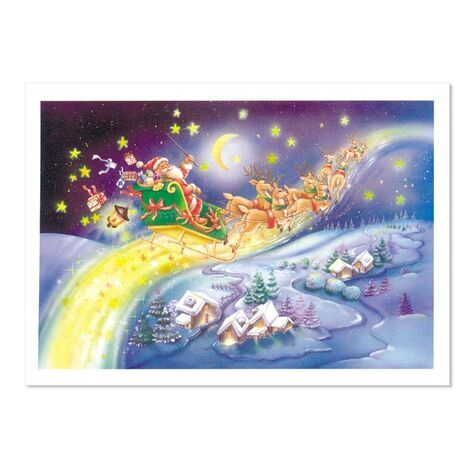 Christmas Card (Santa in a Sleigh)