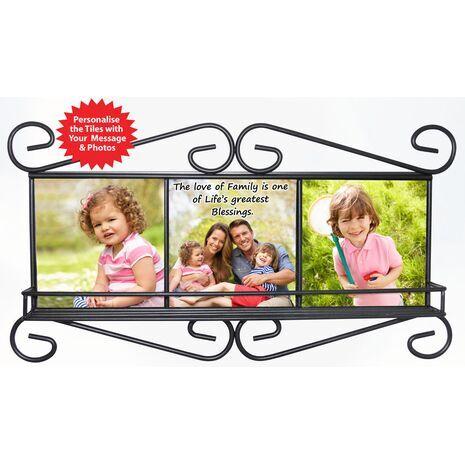 Dimension:   Frame: 20.5 X 38.5 cm Tile: 17 X 17 cm