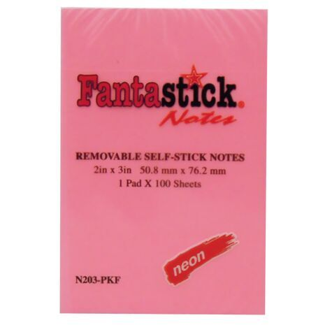 Fantastick Self Stick Notes N203-PKF