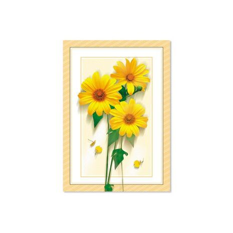 Happy New Year Card (Yellow Flower)